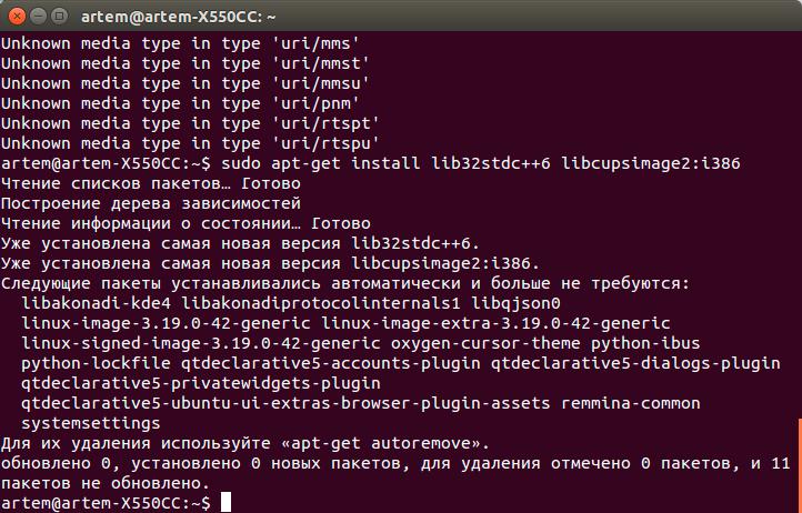 Успешная установка второй библиотеки в Linux