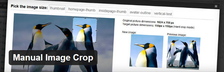 Wordpress плагин: Manual Image Crop