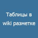 Таблицы в wiki-разметке