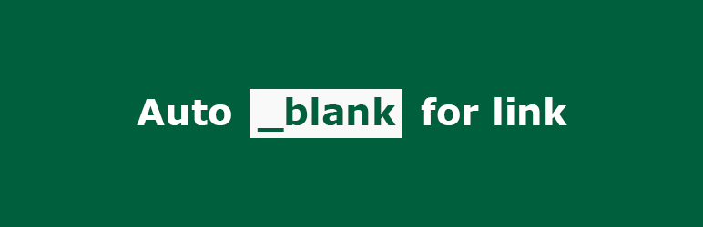 «Autoblank for link» плагин для WordPress