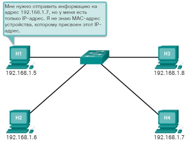 Протокол разрешения адресов (ARP). Введение. CCNA Routing and Switching.