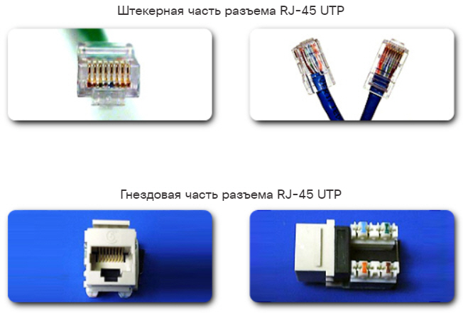 Разъемы для кабелей UTP. CCNA Routing and Switching.