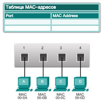 Таблица MAC-адресов. Основная информация о коммутаторах. CCNA Routing and Switching.