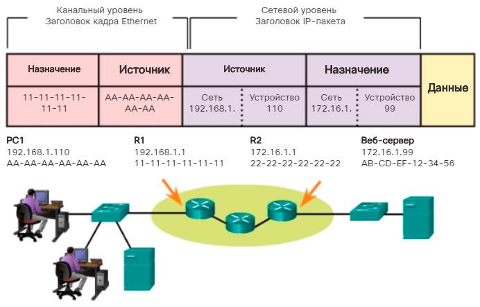 Устройства в удаленной сети. CCNA Routing and Switching.