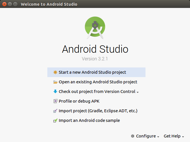 Установка Android Studio в операционной системе Ubuntu