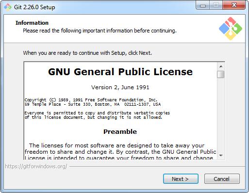 Запускам установочный файл Git