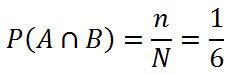 Теория вероятностей. Пересечение событий A и B
