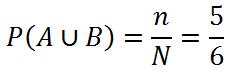 Теория вероятностей. Объединение событий A и B