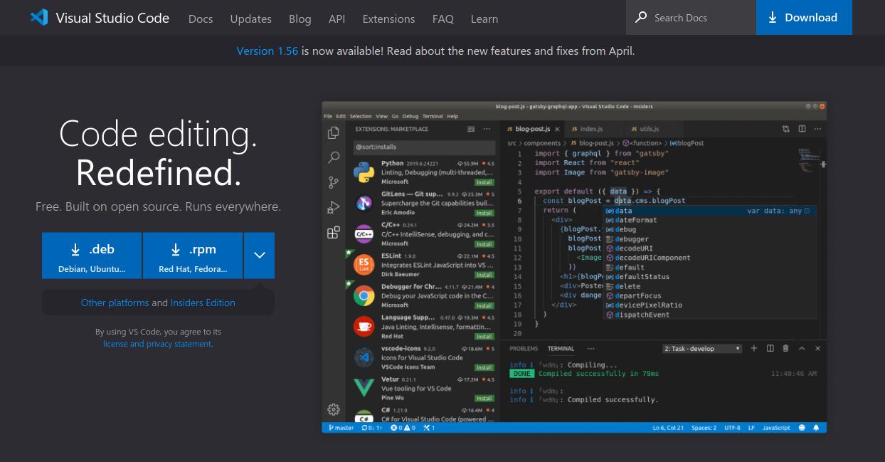 Загрузка Visual Studio Code